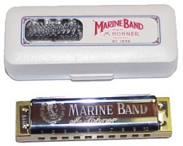 Hohner 1896 Marine Band Harmonica, Key of Low-Eb