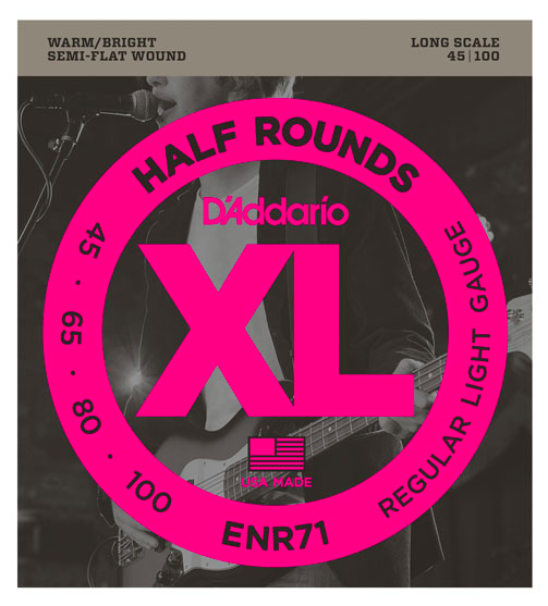 D'Addario ENR71 Light Half Round Bass Strings