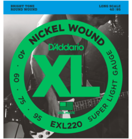 D'Addario EXL220 Light Gauge Bass Strings