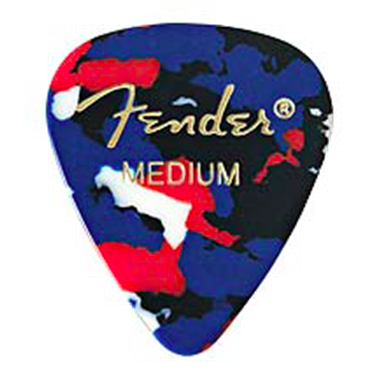 Fender Classic Celluloid Pick, Confetti, Medium
