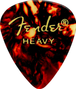 Fender Classic Celluloid Pick, Shell, Heavy
