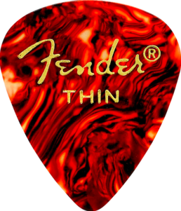 Fender Classic Celluloid Pick, Shell, Thin