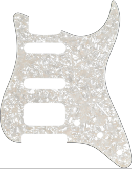Fender Lone Star Strat 11-Hole Pickguard, One Humbucker & Two Single Coils, White Pearl