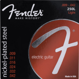 Fender Super 250s Nickel Plated Steel, Light Electric Guitar Strings