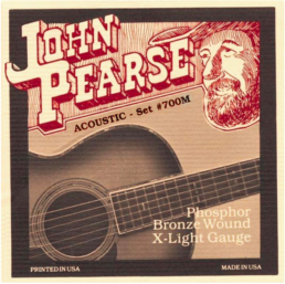 John Pearse 700M Phosphor Bronze Medium Acoustic Guitar Strings
