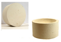 Sona 3 Inch Alumina Ceramic Pot Flat Bottom