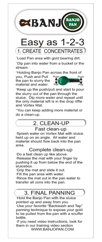 Banjo Pan Instructions