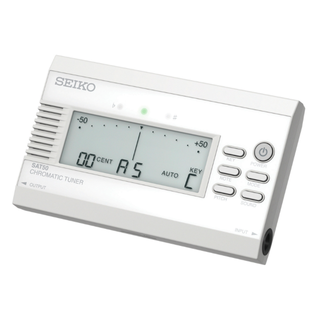 Seiko SAT50WE White Chromatic Tuner