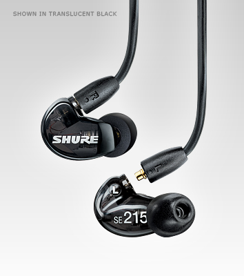 Shure SE215-K Black Sound Isolating Earphones