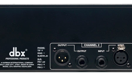 dbx 231S Dual Channel 31 Band Equalizer Back