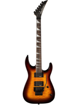 Jackson JS32Q Dinky Transparent Amber Quilt Maple