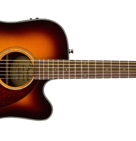 Fender CD-140SCE Sunburst Solid Top Acoustic-Electric Guitar With Hardshell Case Side
