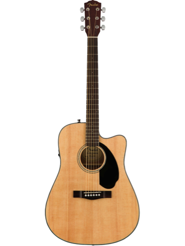 Fender CD-60SCE Natural Solid Top Acoustic-Electric Guitar