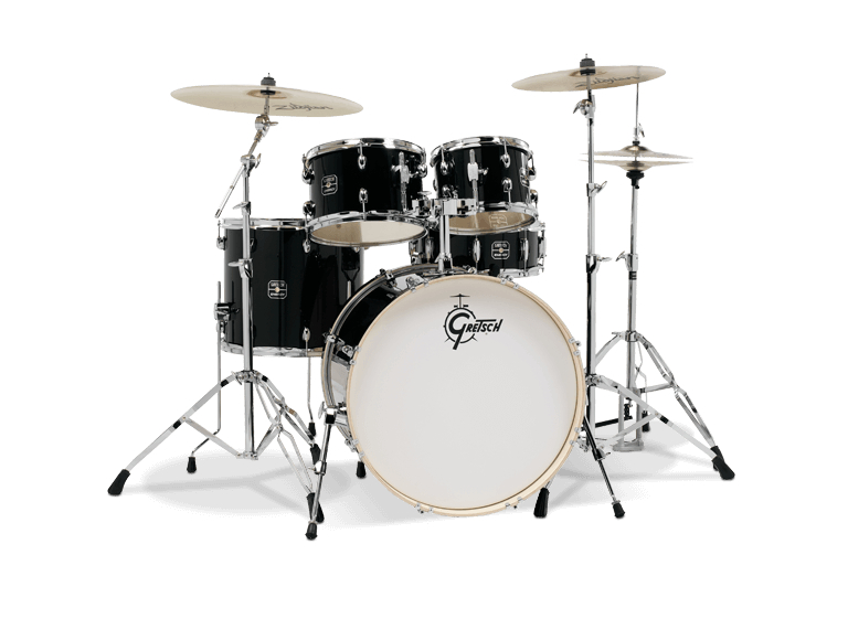 Gretsch GE4E825ZB Energy 5 Piece Black Drum Set