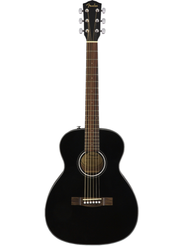 Fender CT-60S Black Solid Top Acoustic Travel Guitar