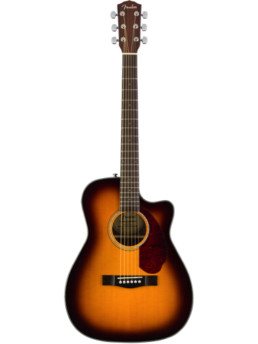 Fender CC-140SCE Sunburst Solid Top Acoustic-Electric Guitar