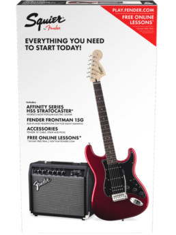Fender Squier Affinity Strat Pack Candy Apple Red HSS
